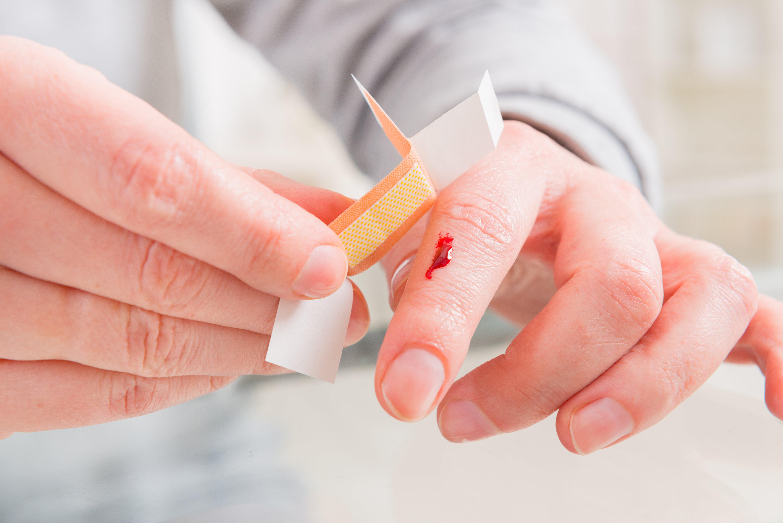 hemophilie : saignement après coupure
