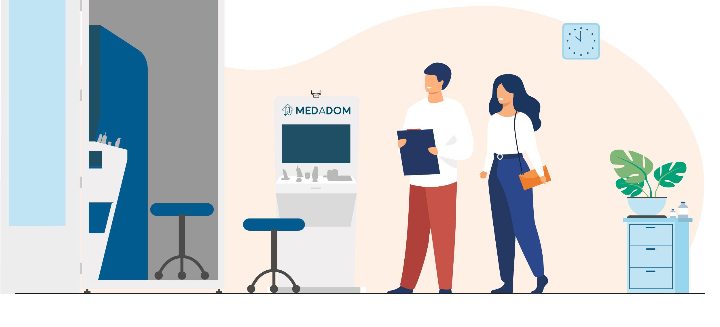 illustration borne et cabine MEDADOM_tlc
